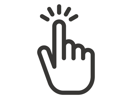 Tap-and-click index finger