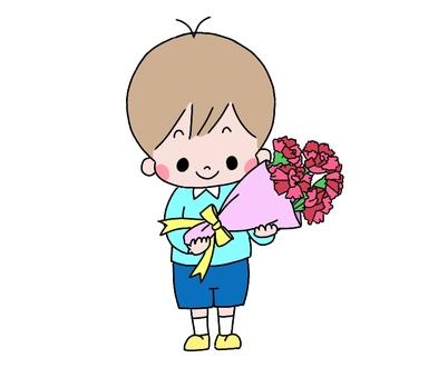 康乃馨的男孩