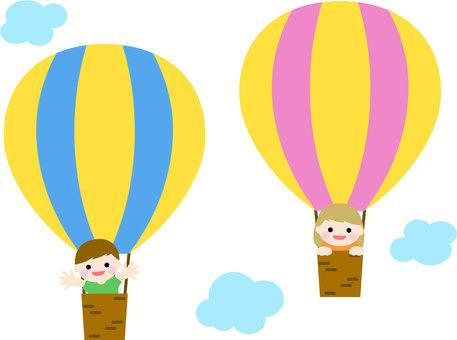 풍선 블루 & 핑크 - 어린이
