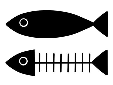 Fish set (silhouette) ‗ 01
