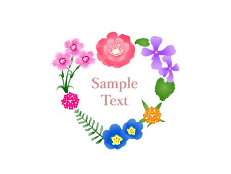 Heart-shaped spring flower lease