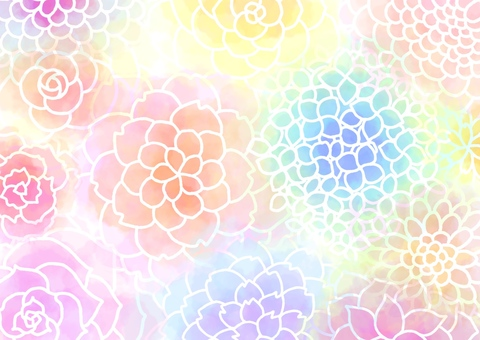 Flower stalk watercolor