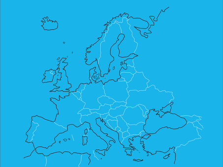 Europe _ white line