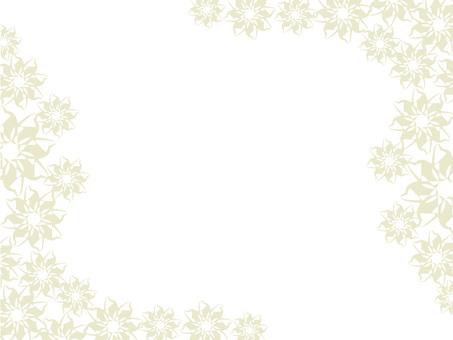 밝은 꽃 무늬 프레임 2