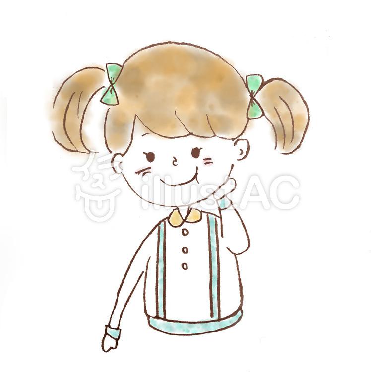 食いしん坊な女の子イラスト No 164217無料イラストならイラストac