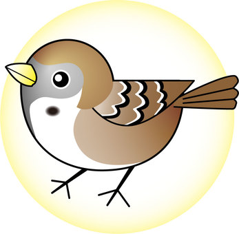 Illustration of a sparrow