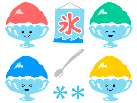 Shaved ice set (smiley)