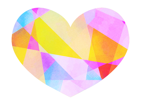 Stained glass style heart