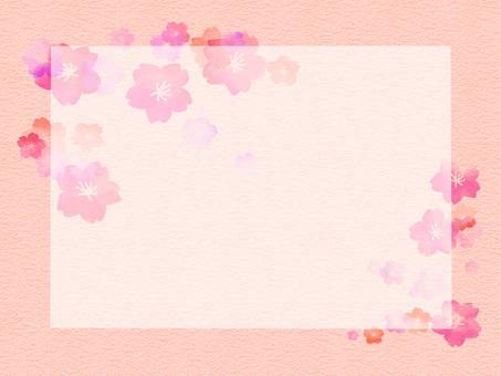 桜 background and paper wind 2-1