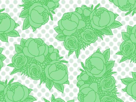 Bouquet wallpaper green