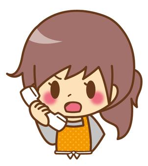 Female * Apron _ Telephone (angry)