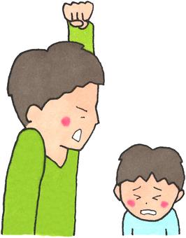 Child abuse (punching father)