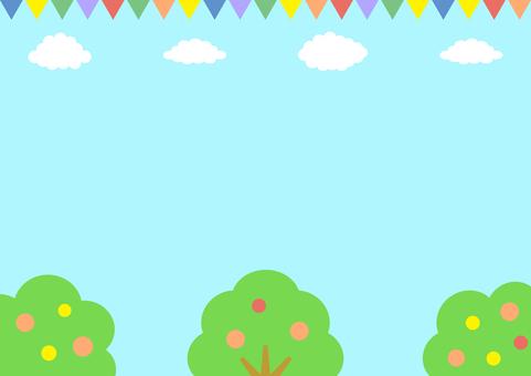 空 緑 風景