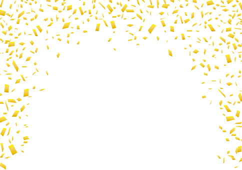 Golden Gold Confetti Background Frame Border Frame Wallpaper