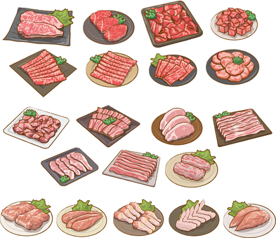 Meat set