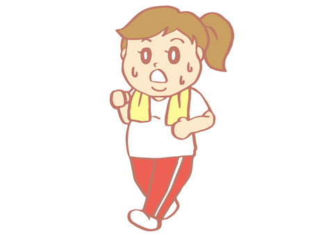 胖乎乎的女孩(走路)