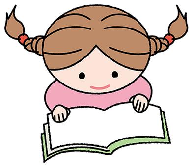 一個女孩讀一本書