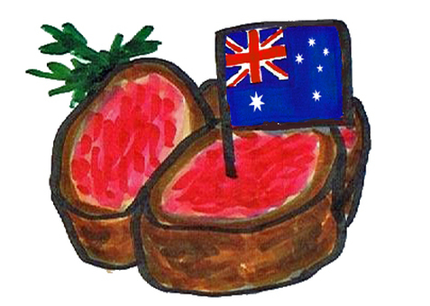Imported meat from Australia