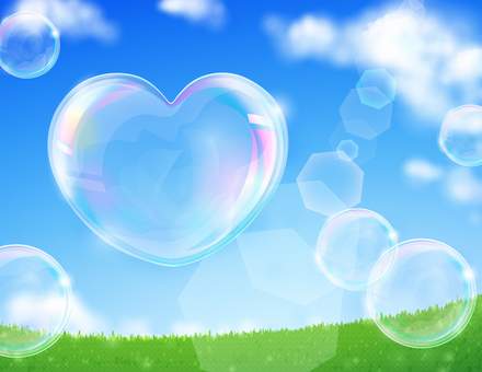 Prairie and heart bubbles