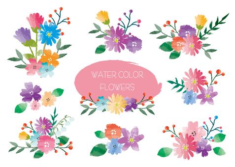 Watercolor flower set 2