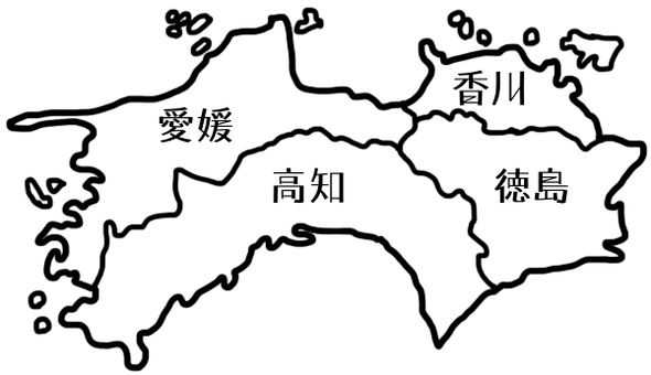 Shikoku map name only