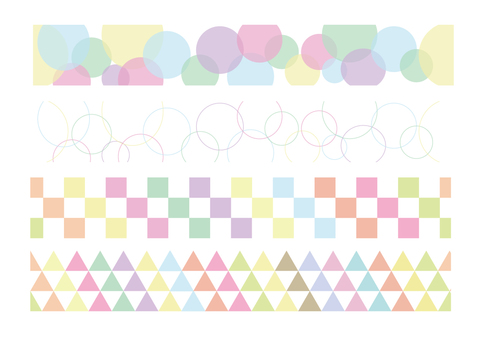 Pastel color pattern