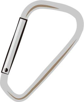 Carabiner (with silver shadow)