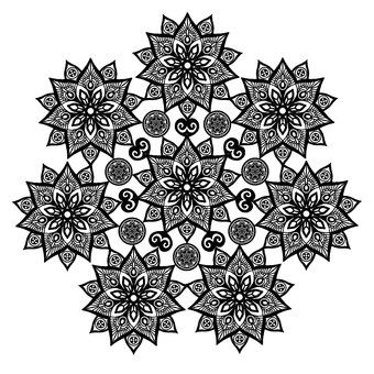 曼陀羅花邊花