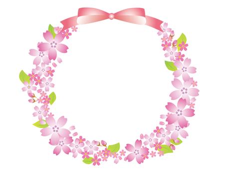 꽃 프레임 벚꽃