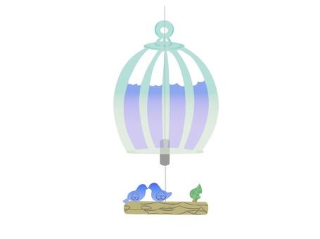 Bird cage wind bell