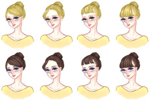 """Girls' hair style """"Dumpling A"""""""