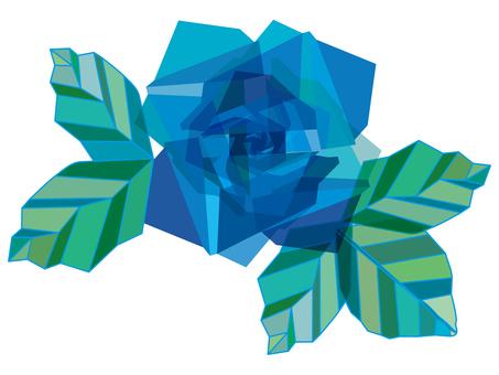 Blue rose blue rose illustration illustration icon