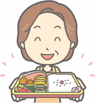 中年家庭主婦 - 午餐盒 - 胸圍