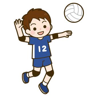 Volleyball (boys) attack