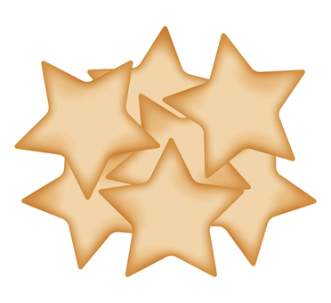 Many star type cookie
