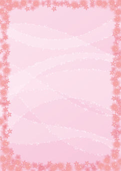 Cherry blossoms, background, A4 vertical, with feet