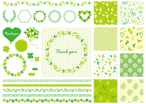 Green frame pattern material