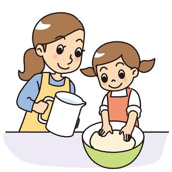 親子で料理3