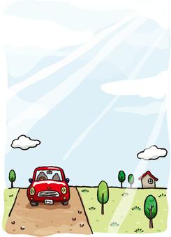 汽車和風景