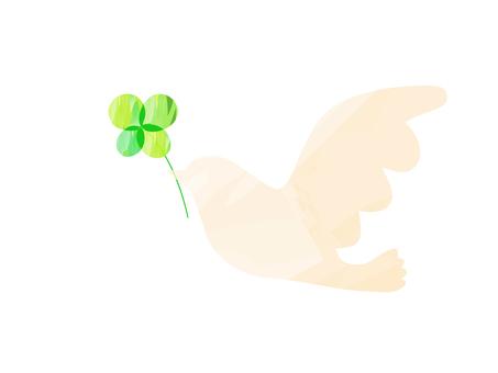 Peace dove _ watercolor wind _ beige