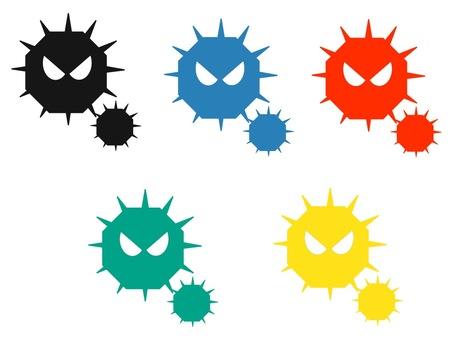 ウイルス 5色セット