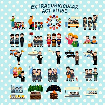Extracurricular activity illustration pack