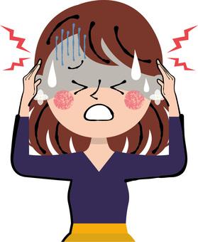 Headache hurts spicy headache No need for upper body