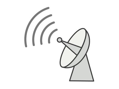 Parabolic antenna icon