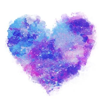 Watercolor Heart 7