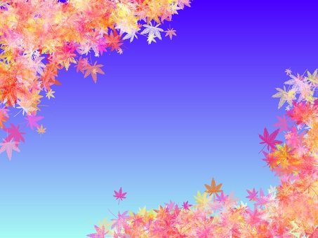 Autumn leaves and sky 6