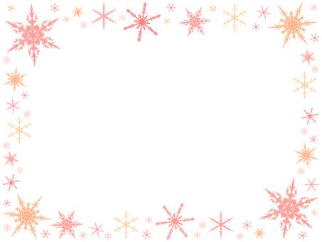 Snow crystal frame 8