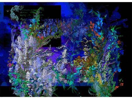Night floral art