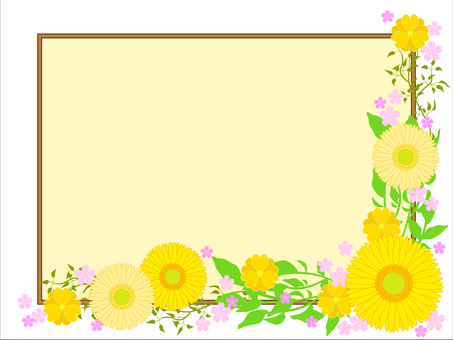 꽃 프레임 02