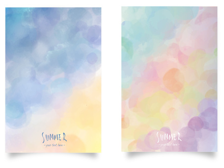 Summer color frame set ver03